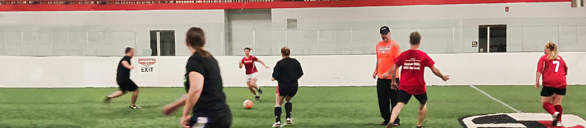 Coed adult soccer league
